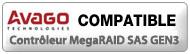 logo compatibilité avago MegaRAID SAS GEN3