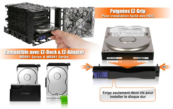 Photo d'un EZ-Dock et EZ-Adaptateur dans le mb074sp-b