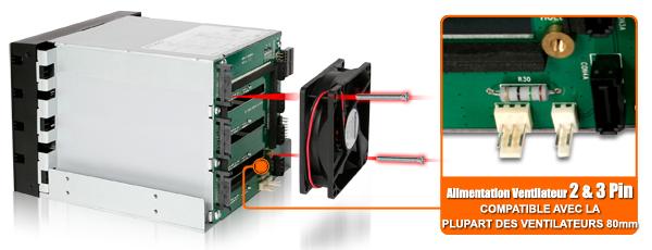 photo des connecteurs d'alimentaiton 2 et 3 pin du mb154sp-b