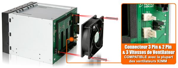photo des connecteurs 3pin et 2pin du mb155sp-b