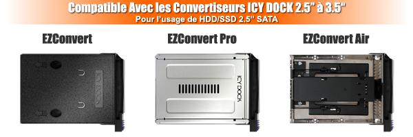 photo d'un EZConvert, EZConvert Pro et d'un EZConvert Air, tous compatibles avec le mb174u3s-4sb