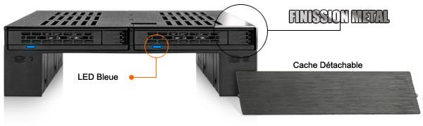 photo du cache détachable, du revêtement en métal et de la LED bleue du mb322sp-b