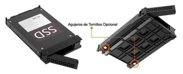 Foto de los agujeros de los tornillos integrados en el MB326SP-B