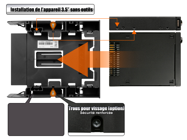 photo des étapes d'installation du mb343sp sans outils
