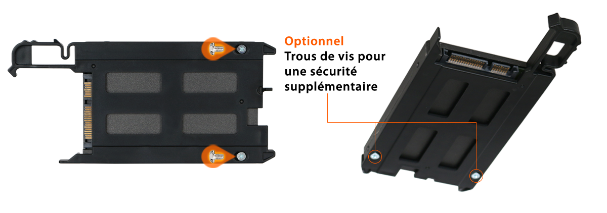 Photo des trous de vis additionnels optionnels pour le MB344SPO