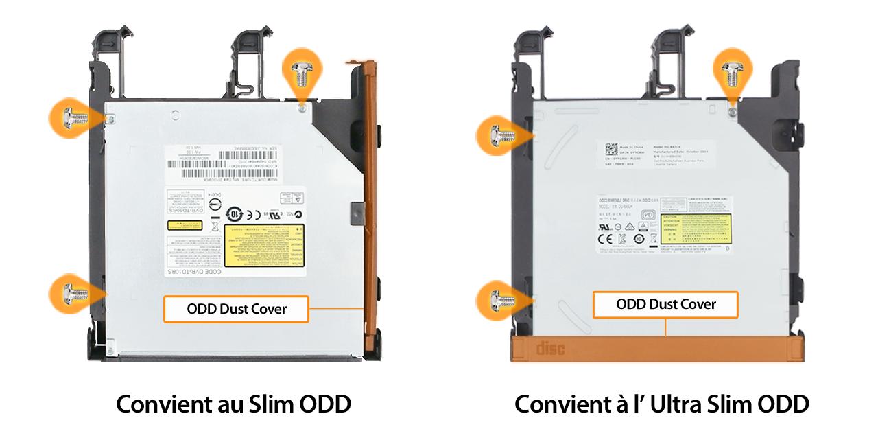 Photo d'une ODD Slim et d'une ODD Ultra Slim qui conviennent toutes les deux pour le MB344SPO