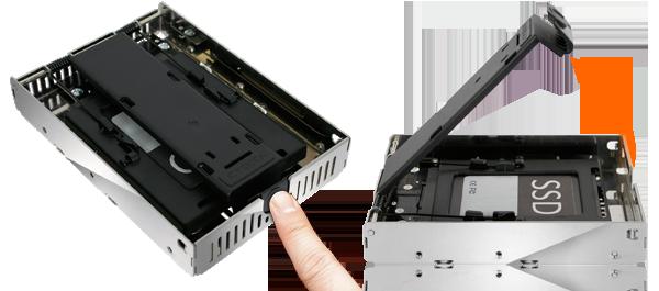 photo desétapes d'installation d'un SSD dans le mb382sp-3b