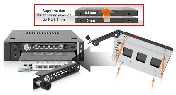 Photo des différentes tailles de disques compatibles avec le mb492skl-b (de 5mm à 9.5mm)