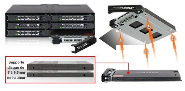 photo des diférentes tailles de disques supportées par le MB608SP-b (7 à 9,5mm de hauteur)