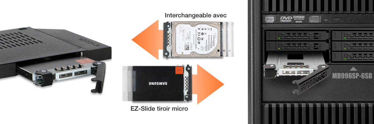 Photo d'un tiroir EZ-Slide Micro dans un MB996SP-6SB