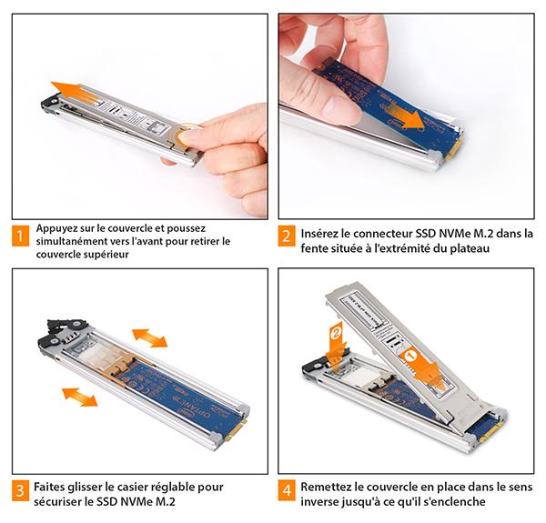 Étapes pour uinstaller un SSD dans le MB840M2P-B