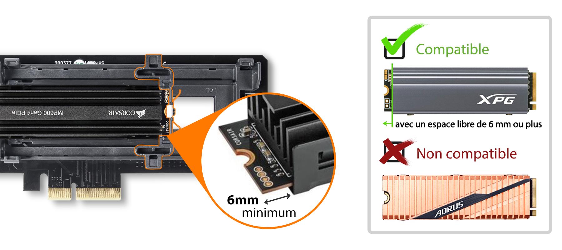 Photo des types de dissipateurs thermiques compatible avec le MB987M2P-B