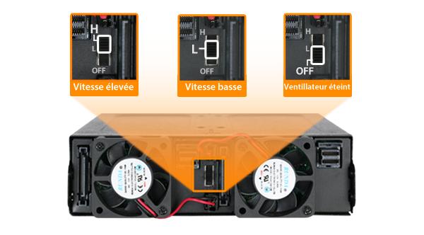 Photo du contrôleur de vitesse 3 modes du ventilateur intégré au MB998IP-B