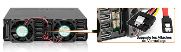 photo du connecteur du mb998sp-b qui supporte les clips de verrouillage