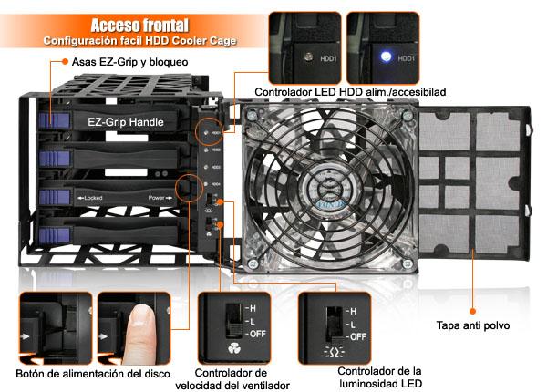 foto de mb074sp-1b características: Indicador LED, filtro de polvo, controlador de velocidad del ventilador, botón de encendido del disco, manijas EZ-Grip & Lock