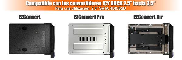 Foto de los 3 tipos de ez-convert compatibles