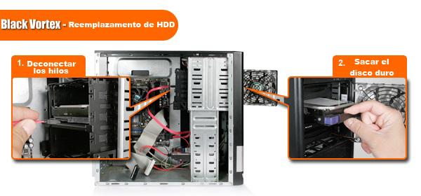 Pasos para instalar un disco duro en un MB074SP-B