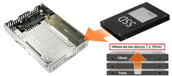 foto de las diferentes alturas de ssd compatibles con el mb482sp-3b