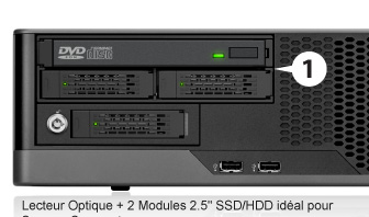 "ODD + 2 x 2.5"" SSD/HDD Module for a Compact Server"