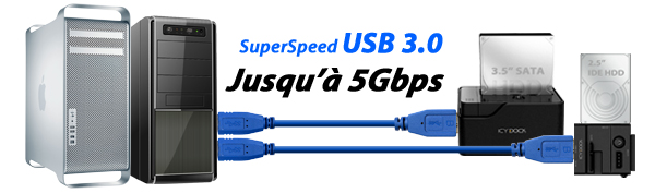 MB981U3-1SA SuperSpeed USB 3.0 up to 5Gbps Transfer rate
